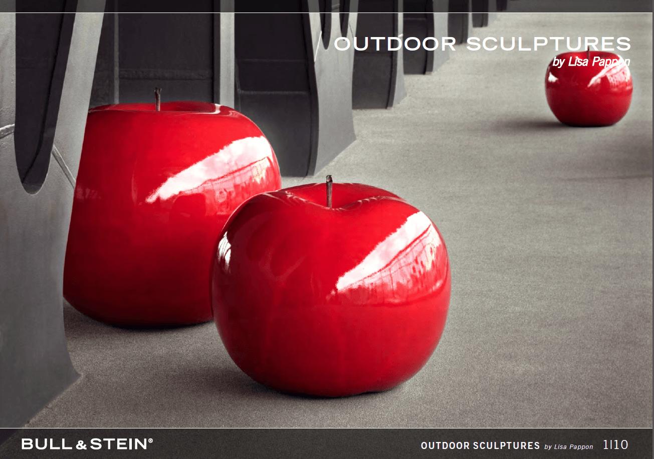 outdoor apples sculptures